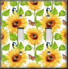 Floral Home Decor - Light Switch Plate Cover - Sunflowers And Butterflies Birds