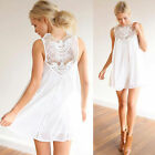 Women Sexy  Casual Chiffon Lace Sleeveless Evening Party Beach Short Mini Dress