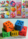 NOVELTY SHAPED ERASER RUBBER DISNEY SPIDERMAN DICE TINKERBELL HELLO KITTY