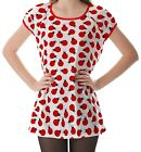 White Ladybug Pattern Women's Clothing Puff Sleeve One Piece Dress