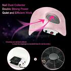 Nail Dust Suction Collector Fingernail Cleaning Tool Pink US/EU Plug Y8O4