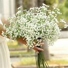 Artificial Flowers White Gypsophila Floral Bouquet Fake For Wedding & Home Decor