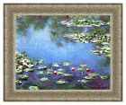 Water Lilies by Claude Monet Painting Reproduction Framed Canvas Giclee Fine Art