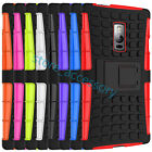 For Motorola Moto Kickstand Heavy Duty 2 in1 Rubber+PC Hybrid Cases Covers Skins