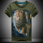 2016 new 3 D printing Lion king moonlight - Men's short sleeve cotton T-shirt