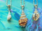 REAL SEA SHELL NECKLACE PENDANT HANDMADE CONCH SEASIDE NATURAL