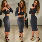 2016 Winter Women 2 Piece Sexy Bandage Dress V-neck Long Sleeve Bodycon Dresses