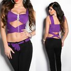 Women's Sexy Wrapped Top with Jewel Pin - One Size: S / M / L
