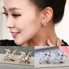 2016 NEW Women Lovely Elegant Crystal Rhinestone Square Ear Stud Earrings
