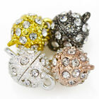 Rhinestone Crystal Silver / Gold Plated Strong Magnetic Round Ball Clasps