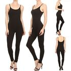 Junior Plus Size- Solid Spaghetti Strap Full Length Catsuit/Jumpsuit 1XL 2XL 3XL
