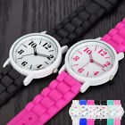 Fashion Girl Simple Watches Women's Bracelet Silicone Analog Quartz Wrist Watch