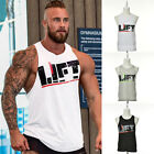 Men's Sports Muscle Bodybuilding Gym Tank Tops Cotton Tight Sleeveless Vest Tops
