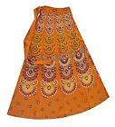 ORANGE HIPPIE HIPPY BOHO COTTON FUNKY WRAP AROUND SKIRT DRESS 8 10 12 14 80CM