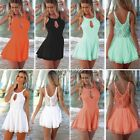 BOHO LADIES LACE PLAYSUIT BODYSUIT JUMPSUITS ROMPER SHORTS TROUSERS PARTY DRESS