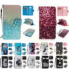 For Samsung Galaxy New Fashion Leather Case+Strap Card Wallet Magent Flip Cover