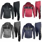 New Mens DLX Hooded Tracksuit Set Fleece Hoodie Sports Joggers Gym Size