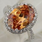Size 5 6 7 8 9 Gorgeous Awesome Citrine Orange Jewelry Gold Filled Ring R2412