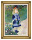 Framed Art Print Girl with a Watering Can Pierre Auguste Renoir Painting Repro