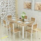 Wood Dining Table and 4 Chairs Contemporary Dining Set With Free Table Runner