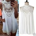 NEW SUMMER WOMEN LADIES BOHO HIPPIE LACE CHIFFON DRESS Party Top PLUS SIZE 8-26