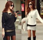Casual Women Long Sleeve Bodycon Slim Evening Sexy Party Cocktail Mini Dress