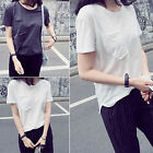 CHIC Fashion Women Casual Cotton Blouse Short Sleeve Shirt T-shirt Blouse Tops