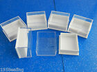 Wholesale 100 Plastic Clear Lid Earring Boxes White,Blue,Black,Brown Pads