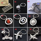 Casual Silver Plated Football Ball Pendant Keychain Keyring Key Chains Gift