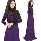 Hot Maxi Muslim abaya jilbab Islamic dress women clothing Long Sleeve Dress