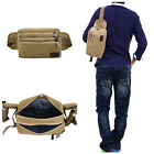 Men's Canvas Waist Fanny Bum Bag Crossbody Bag Satchel Riding Outdoor Sling Bag