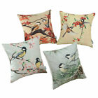 "18""X18"" CaliTime Titmouse Chickadees Leaves Pine Tree Throw Pillow Cushion Cover"