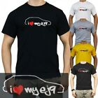 Tuning T-Shirt I LOVE MY ej9 Honda Civic V-Tec Turbo vti Japan Club JDM ek9 ek4