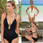 AU Summer Sexy Women One Piece Bikini Monokini Swimsuit Padded Backless Swimwear