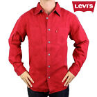 Levi's Men's Long Sleeve Cotton Button-Up Spread Collar Western Work Shirt Denim