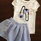 NWT Gymboree Girls Spring Prep Outfit Top Skirt Size 5 6 7 8