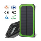100000mAh Solar Power Bank LED 2USB External Battery Charger Waterproof Fr Phone