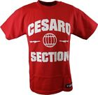 Cesaro Section WWE Authentic Mens Red T-shirt