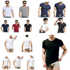 Fashion Men O-Neck Muscle Short Sleeve Slim Fit Shirts T-shirt Fitness Tops Tees