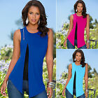 Summer Fashion Women Vest Top Sleeveless Blouse Casual Tank Tops T Shirt Blouse