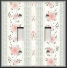 Switch Plate Cover - Pink Grey Lacey Victorian Rose - Home Decor/Nursery Decor