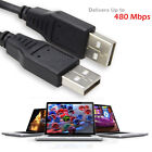 10ft. 480 Mbps High Speed USB 2.0 Cable Type A Male/Male AMAM Cord for Data Sync