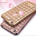 Crystal Diamond Plating Clear Soft TPU Cover For iphone 6/6S & 6 6s Plus Case UK