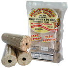 Blazers Long Lasting Slow Burning 100% Wood Fuel Logs Open Fire Pit Log Stove