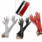 Fashion Women Sexy Stretch Lace Opear/Long Length Gloves - Black White Red
