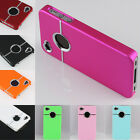 Deluxe Chrome Hard Rubber Bumper Skin Cover Case For Apple IPhone 4 4G 4S