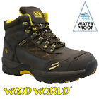 WOOD WORLD MENS WATERPROOF LEATHER SAFETY STEEL TOE CAP COMBAT WORK HIKER BOOTS