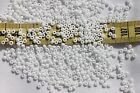 8/0 Czech Opaque White  Glass Seed Beads /1oz