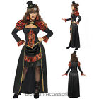 CL901 Victorian Steampunk Vampiress Vamp Gothic Halloween Fancy Dress Up Costume