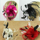 New Women Fascinator Headwear Feather Flower Headpiece Hair Clip Party Headwear